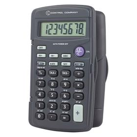 Construction Calculator: 3 Key, 8 Display Digits, 4 1/4 in Lg, 2 1/2 in Wd, 1/2 in Dp, Battery Power Source