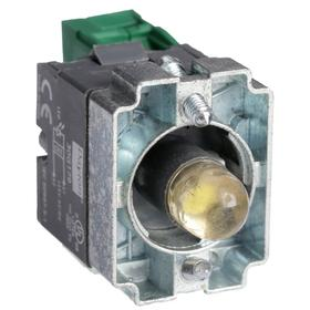 Lamp Module & Contact Block: For Chrome Operators, 1.57 in Overall Lg, White, Includes Bulb, 2.97 in Overall Ht, 1.81 in Overall Wd, LED