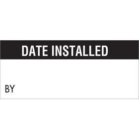 Brady Maintenance Label: White, 5/8 in Label Ht, 1 1/2 in Label Wd, PrePrinted Labeling/Wire Marking, 14 PK