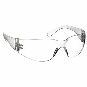 Safety Glasses: Frameless Frame, Clear, Uncoated, White, ANSI Z87.1-2010