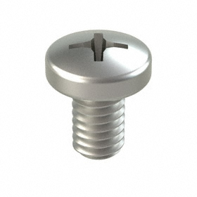 "Pan Head Machine Screw: 18-8 Stainless Steel, Phillips, 5/16""-18 Thread Size, 1/2 in Shank Lg, 25 PK"