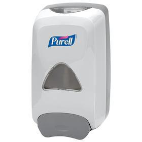 Purell FMX-12 Wall-Mount Dispenser: Foam, Gel, & Liquid, 1,200 mL Capacity, Plastic, Gray, 10 1/2 in Overall Ht