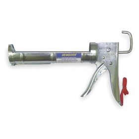 Caulk Gun: Manual, Std, 10 fl oz Caulk Gun Capacity, 6:1 Thrust Ratio, Ratchet Rod