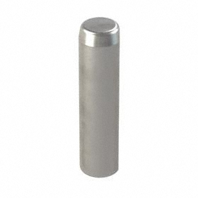 Pull-Out Dowel Pin with Flat Vent: Steel, Plain, 1/4 in OD, 1 in Overall Lg, 8-32 Thread Size, 3/8 in Thread Dp
