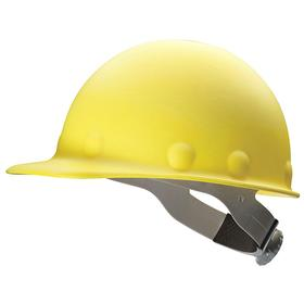 Honeywell Safety Hard Hat: Swing Strap, With Side Slots, ANSI Impact Type Rating I, ANSI Electrical Class Rating C/G, 8-Point, Yellow