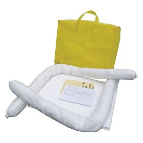 Spill Kit: Bag, Gray, 5 gal Max Vol Absorbed, Universal Fluids Absorbed, 70 Haz Material Indicator, 16 Pieces