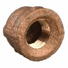 Brass Pipe Cap: 125 Class, 1/8 Pipe Size (Port 1), NPT, 125 psi Max Op Pressure, Uncoated