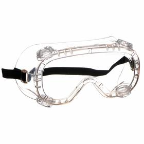 Dust Protection Safety Goggles: Anti-Fog, Clear, Cap, Polycarbonate, PVC, Elastic, ANSI Z87.1+/CSA Z94.3
