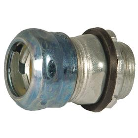 Hubbell Rigid Conduit Compression Connector: Connector Fitting Type, 1 1/2 in Trade Size, 2.25 in Overall Lg, Steel, EMT
