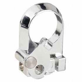 Eaton Push Button Padlock Attachment: Metal, 30 mm Compatible Panel Cutout Dia, Silver, For Illuminated Push Buttons