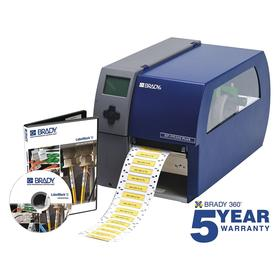 Brady PR300 Plus Desktop Label Printer: Printer Only, Continuous Labels/Die-Cut Labels, 4 in Max Label Wd, Single Color