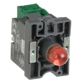 Lamp Module & Contact Block: For Plastic Operators, 1.57 in Overall Lg, Red, 2 Haz Material Indicator, LED, (1) Contact Block, Includes Bulb