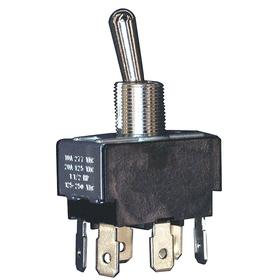 Honeywell Toggle Switch: 2 Positions, 1/2 in Mounting Hole Dia, 2 Poles, On-On, Maintained, 0.65 in Actuator Lg, Silver
