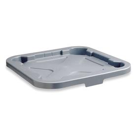 Rubbermaid Plastic Trash & Recycling Container Lid: For 40 gal Receptacle Capacity, Gray