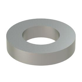 Narrow Flat Washer: 18-8 Stainless Steel, For No. 0 Screw Size, 0.068 in ID, 0.125 in OD, 0.025 in Thickness, 10 PK