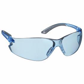 Pyramex Safety Glasses: Blue, Frameless Frame, Scratch Resistant, ANSI Z87.1-2003_CAN/CSA Z94.3-07_CE EN166