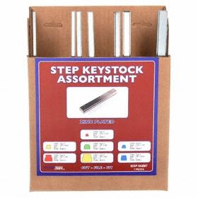 Key Stock Assortment: Step, 7 Pieces