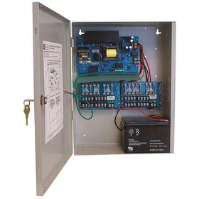 Boxed Power Supply: 16 Outputs, Multi-Output Power Supply/Charger, 10 A Current, 115V AC Input Volt, 12V DC Output Volt