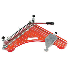Tile Cutter: Vinyl Tile, 18 in Blade Lg, 12 in Max Diagonal Cut Lg, 1/8 in Max Material Thickness, Steel