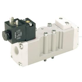 Solenoid Valve: Base Mounted Body, Packed Spool, Solenoid/Spring Air Assist, 2 Positions, 3 Coefficient of Volume