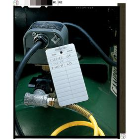 See All Inspection Tag: 4 in Overall Ht, 2 in Overall Wd, Aluminum, Inspected, Date___Initial___, Indoor, English, 25 PK