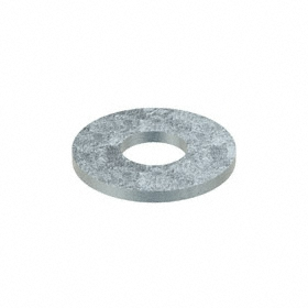 USS Flat Washer: Steel, Zinc Plated, Low Carbon Material Grade, For 1/2 in Screw Size, 0.563 in ID, 1.375 in OD, 1300 PK