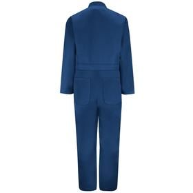 VF Imagewear Twill Action Back Coverall: Polyester/Combed Cotton, Navy, Zipper, Men, 52 in Max Chest Size, L Size, Open