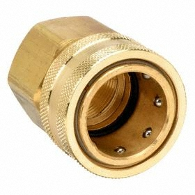 Parker Hannifin Quick-Disconnect Socket: Straight Through (ST), 1 in Coupling Size, Brass, Ball-Lock, 1 Pipe Size, NPTF