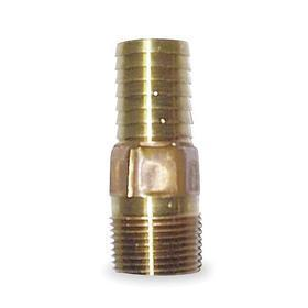 Apex Brass Hose Barb: Adapter, Barbed, Male, NPT, NPT/Not Applicable, 2/Not Applicable Pipe Size, Red