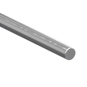 Straight Linear Shaft: Inch, Steel, 1566 Material Grade, Annealed Ends, Plain, 1 1/2 in Dia, 18 in Overall Lg