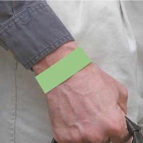 Brady Wristband: Green, Numbered, Adhesive, Tyvek, 10 in Overall Lg, 1 in Overall Wd, 500 PK