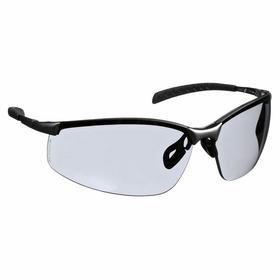 Honeywell Safety Glasses: Gray, Half Frame, Anti-Fog, Silver, ANSI Z87.1-2010/CSA Z94.3, Stainless Steel