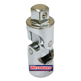Standard Socket Adapter: Hand, Chrome Vanadium Steel, Universal Joint Adapter, 3/4 in Input Drive Size, Chrome