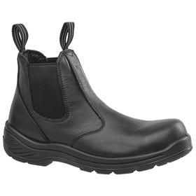 Puncture-Resistant Work Boot: Ankle Boots, D Shoe Wd, 4 Men's Size, Composite, 6 in Shoe Ht, Leather, Black, Electrical Hazard Rated, 1 PR