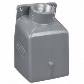 Hubbell Conduit Box: 60 A Amperage, 80 cu in Capacity, Gray, 1.5 in Compatible Trade Size, Threaded, Die-Cast, Painted