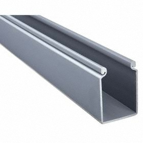 Solid Wall Wiring Duct: 2.17 in Overall Wd, Gray, 3.06 in Overall Ht, 6 ft Overall Lg, Hinged
