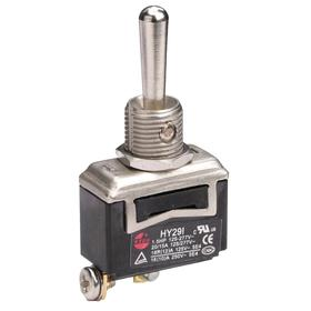 General Duty Toggle Switch: 2 Positions, 20 A @ 125V AC Switch Rating, 2 Poles, On-Off, SPST Pole-Throw Configuration, Silver