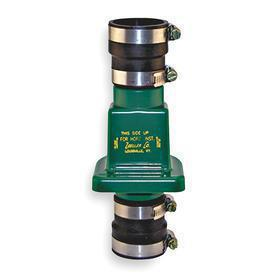 Zoeller Check Valve: PVC, Slip, 1 1/2 in Dia, 17 1/2 in Overall Ht, 9 3/4 in Overall Lg, 6 3/4 in Overall Wd, Green
