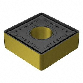 Sandvik Coromant Square (S) Turning Inserts: SNMM Insert, 25 Seat Size, 0° Clearance Angle, 1 in Insert Size, 3/8 in Thickness, 5 PK