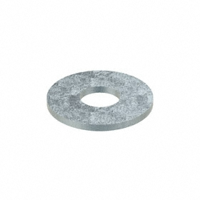 Flat Washer: Steel, Zinc Plated, Low Carbon Material Grade, For 1/4 in Screw Size, 0.282 in ID, 1.5 in OD, 100 PK