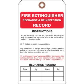 See All Inspection Tag: 7 in Overall Ht, 4 in Overall Wd, Cardstock, Fire Extinguisher, Do Not Remove This Tag, 25 PK
