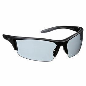 Honeywell Safety Glasses: Gray, Half Frame, Scratch Resistant, Black, ANSI Z87.1-2010/CSA Z94.3, Polycarbonate