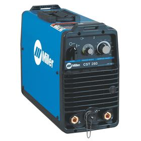 Miller  CST 280 Stick & TIG Welder: Stick/TIG, Tweco Style, DC, 220 to 575V Input Volt, 35 %/50 % Duty Cycle, 2 Pieces