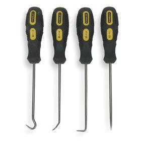 Stanley Pick & Hook Set: 4 Pieces, Steel, (1) 90° Hook/(1) Angle Hook/(1) Full Hook/(1) Straight Pick