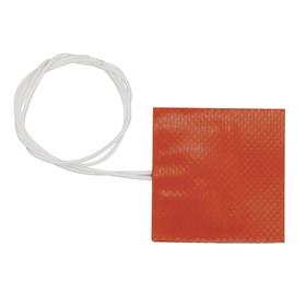 Silicon Rubber Heat Sheet: With Adhesive Backing, 12 in Overall Wd, 12 in Overall Lg, 1/16 in Overall Thickness, 1440 W Watt