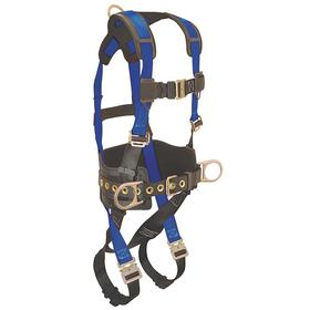 Harness for Positioning: 3 D-Rings, Vest, With Belt, Polyester, 1 Back, 2 Side D-Rings, Steel, 425 lb Max Load Capacity, Mating, Tongue, Friction