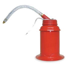 Pump Oil Can: 6 fl oz Oiler Capacity, Gen Use, Pistol Grip, Flex, 5 in Spout Lg, 3 in Oiler Bowl Dia, 4 5/8 in Oiler Ht