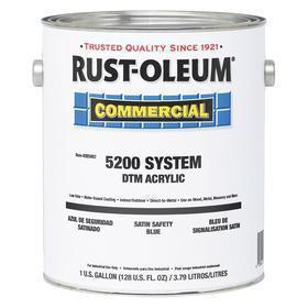 Rust-Oleum Direct-to-Metal Enamel Paint: Safety Blue, Satin