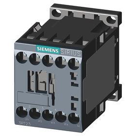 Siemens IEC Contactor: 4 Poles, Single/Three Phase, 4NO Auxiliary Contact Pole-Throw Configuration, 1/3 hp - Single Phase @ 120V, 20 IP Rating
