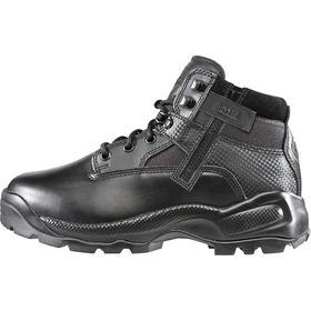 5.11 Leather Work Boot: Men, Plain, 6 in Shoe Ht, Leather/Nylon, Black, Gen Use, 12 Men's Size, D Shoe Wd, 1 PR